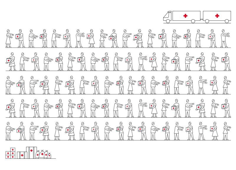 150 Jahre Rotes Kreuz Briefmarke