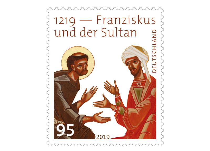 Franziskus und der Sultan Briefmarke